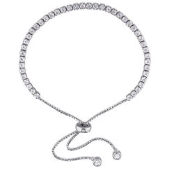 2.5mm White Topaz Bolo Bracelet in Sterling Silver product photo