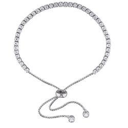 2.5mm White Topaz Bolo Bracelet in Sterling Silver product photo