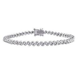 1/2 CT TW Diamond Tennis Bracelet in Sterling Silver product photo