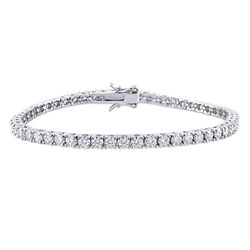 5 5/8 CT TGW Created Moissanite Tennis Bracelet in Sterling Silver product photo
