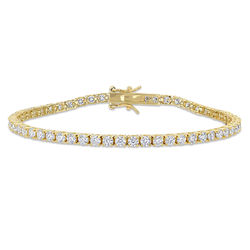 5 5/8 CT TGW Created Moissanite Tennis Bracelet in Yellow Silver product photo