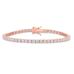 5 5/8 CT TGW Created Moissanite Tennis Bracelet in Pink Silver product photo