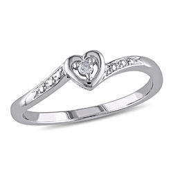 Diamond Heart Ring in Sterling Silver product photo