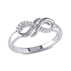Diamond Infinity Ring in Sterling Silver product photo
