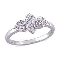 1/5 CT. T.W. Diamond Marquise Ring in Sterling Silver product photo