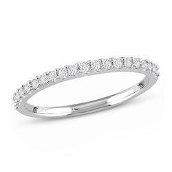 1/5 C.T T.W. Diamond Semi-Eternity Ring in 10K White Gold product photo