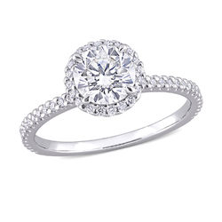1 1/4 C.T T.G.W. Moissanite Round-cut Ring Sterling Silver product photo