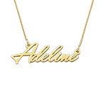 14K Tiny Gold Name Necklace