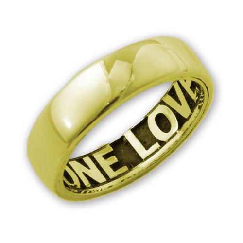 14k Gold Comfort Fit Inside Engraved Ring