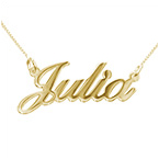 14k Gold Double Thickness Classic Name Necklace