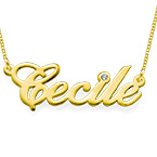 14k Gold and Diamond Name Chain Necklace