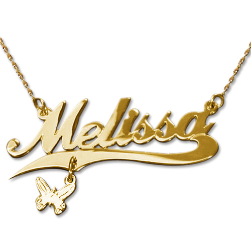 14k name necklace gold with charm mynamenecklace 14k name necklace gold with charm aloadofball Choice Image