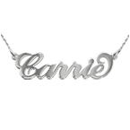 14k White Gold Carrie Necklace With Twist Chain
