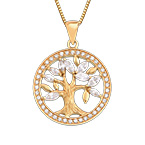 18K Gold Plated Tree of Life Necklace