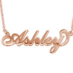 18K Rose Gold Plated Silver Name Necklace