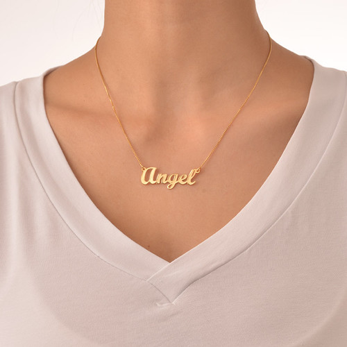 18k Gold Plated Script Name Necklace Mynamenecklace