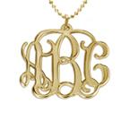 18k Gold Plated Monogrammed Pendant
