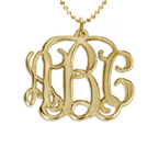 18k Gold Plated Monogrammed Pendant