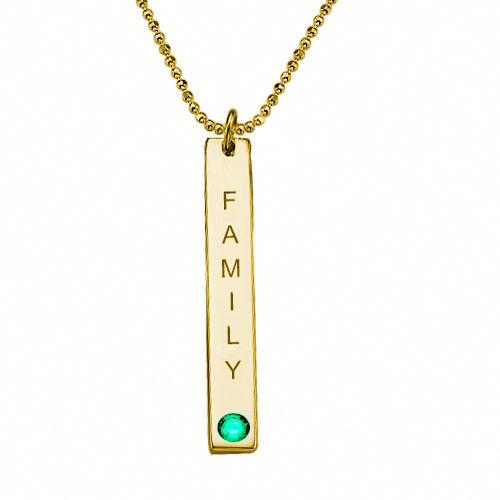 Swarovski Vertical Bar Necklace For Mothers - 2