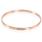 18k Rose Gold Plated Engraved Bangle Bracelet