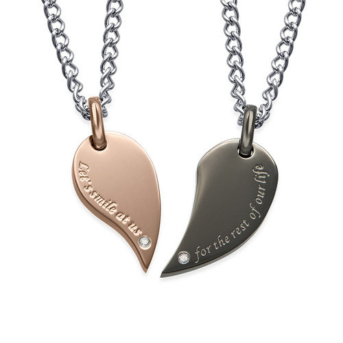 heart necklace for couples - photo #30