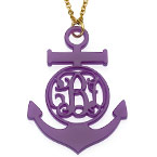 Acrylic Anchor Monogram Necklace