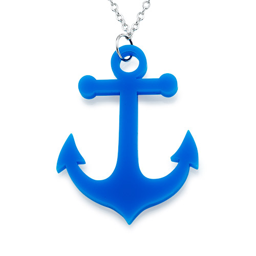 Acrylic Anchor Necklace - 1
