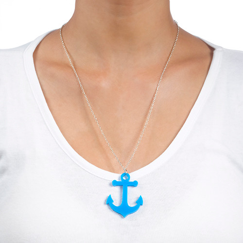 Acrylic Anchor Necklace - 2