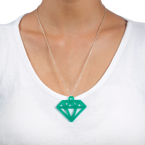 Acrylic Diamond Necklace - 2