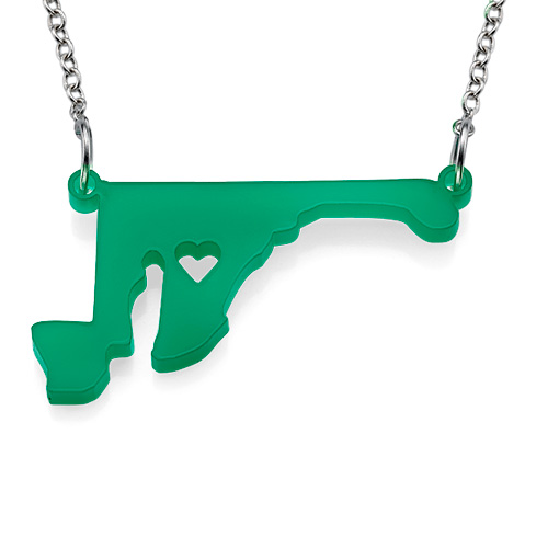 Acrylic State Necklace - 1