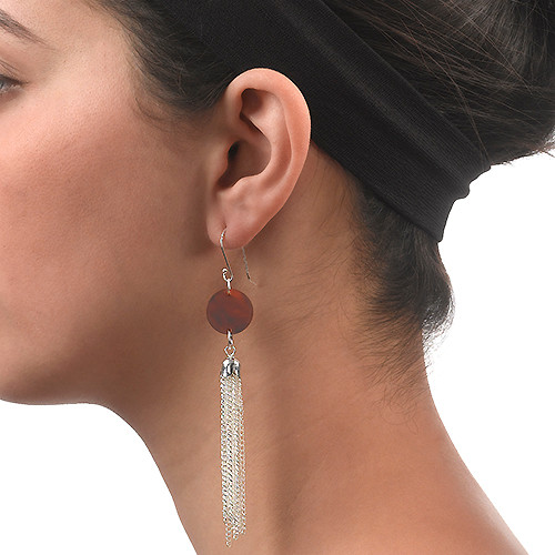 Acrylic Tassel Earrings - 1