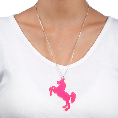 Acrylic Unicorn Necklace - 1