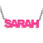 Acrylic Nameplate Necklace