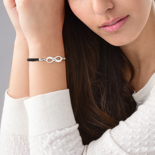 Adjustable Infinity Bracelet with Engraving - 2