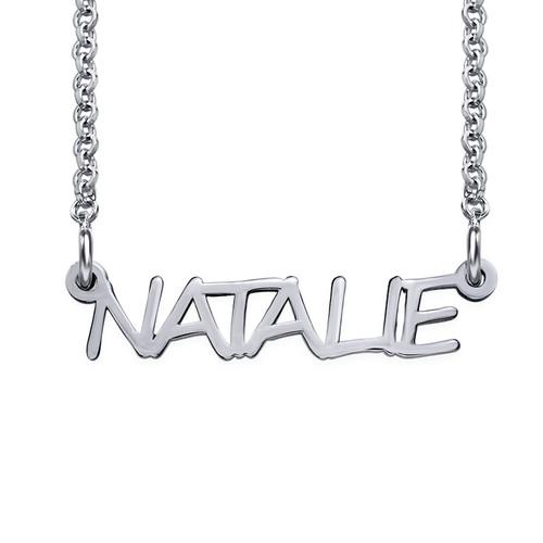 Signature All Capitals Name Necklace