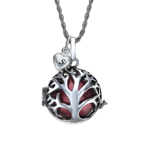 Angel Caller Necklace with Tree Shaped Cage