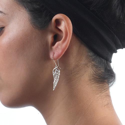Angel Wing Earrings in Silver - 1