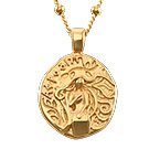 Aphrodite Coin Necklace in Gold Plating