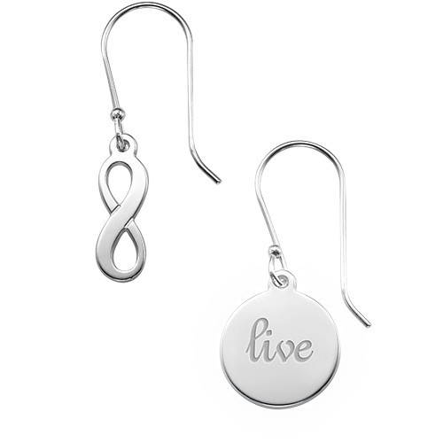 Asymmetric Earrings in Sterling Silver - 5