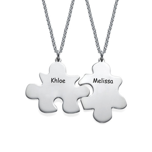 BFFs Puzzle Piece Necklace Set - 1
