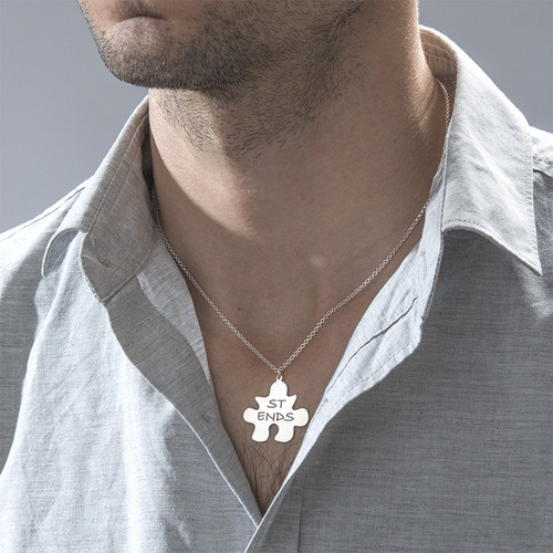 BFFs Puzzle Piece Necklace Set - 3