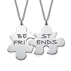 BFFs Puzzle Piece Necklace Set