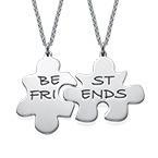 BFFs Puzzle Piece Necklace Set