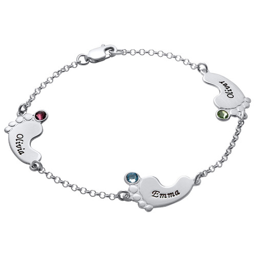 Baby Feet Bracelet with Engraving