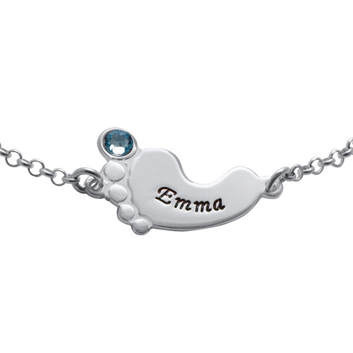 Baby Feet Bracelet with Engraving - 1