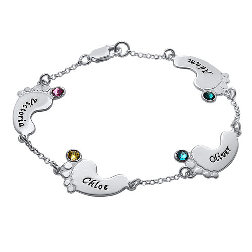Baby Feet Bracelet with Engraving - 2