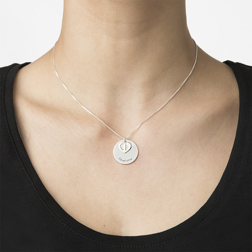 Baby Feet Disc Necklace - 2