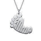 Baby Feet Name Necklace for Mothers