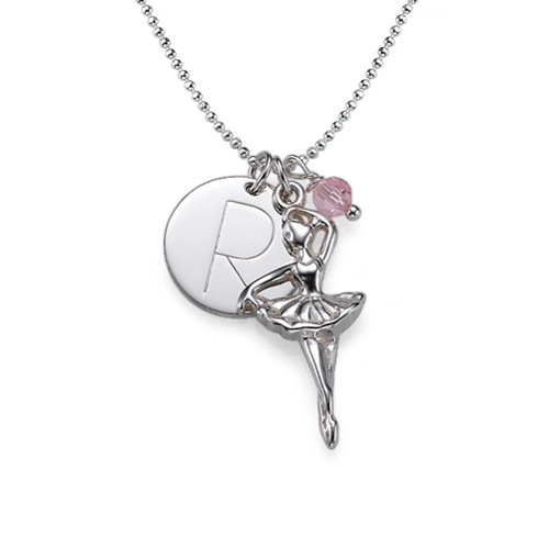 Ballerina necklace with a personalized charm mynamenecklace ballerina necklace with a personalized charm mozeypictures Image collections