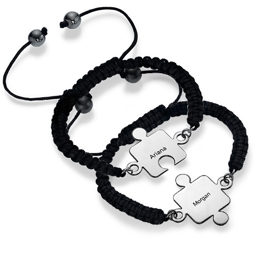 Best Friends Puzzle Bracelet in Silver - 1